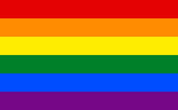 Красный желтый фиолетовый флаг