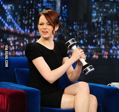 Emma stone vs shake weight