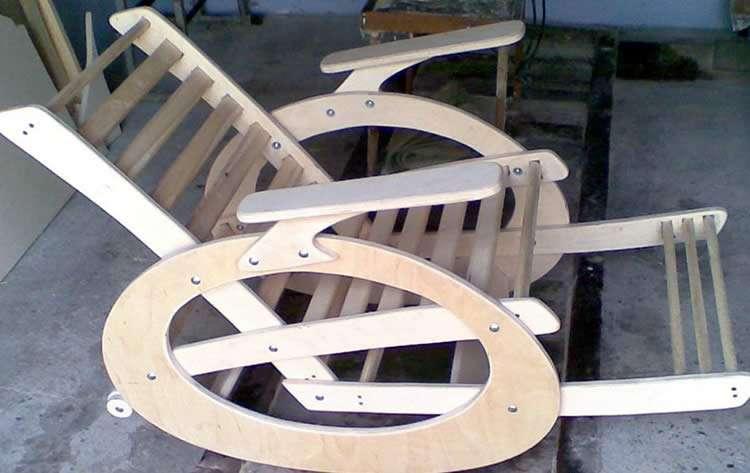 Кресло качалка чертежи из фанеры