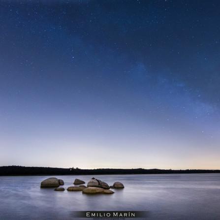 Vía Láctea sobre el Valmayor