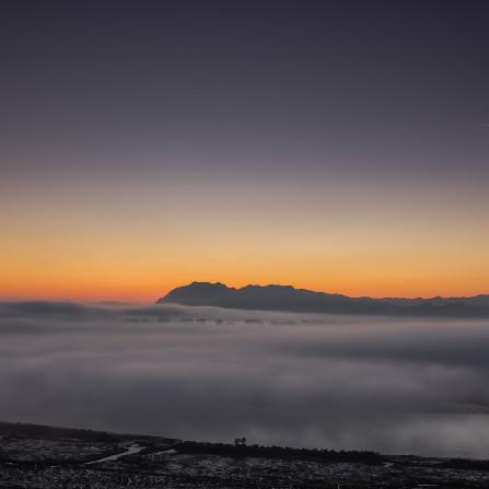 Mar de nubes sobre La Marisma
