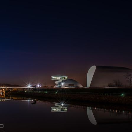 Atardecer en el Centro Cultural Óscar Niemeyer (Avilés)