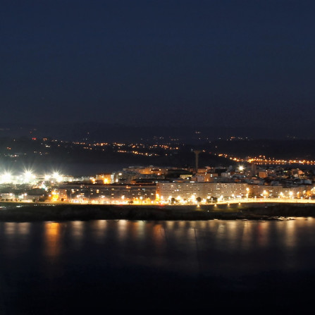 Coruña at night