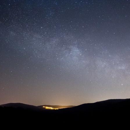 Vía Láctea en febrero