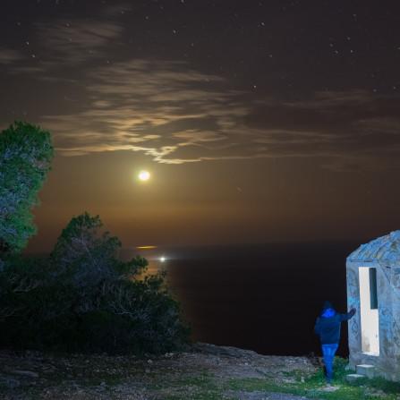 Contemplando la Luna