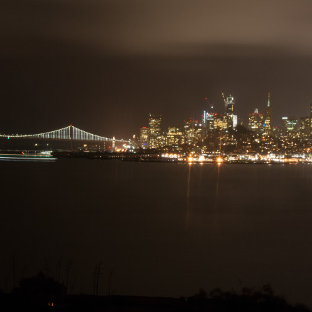 SFO at night