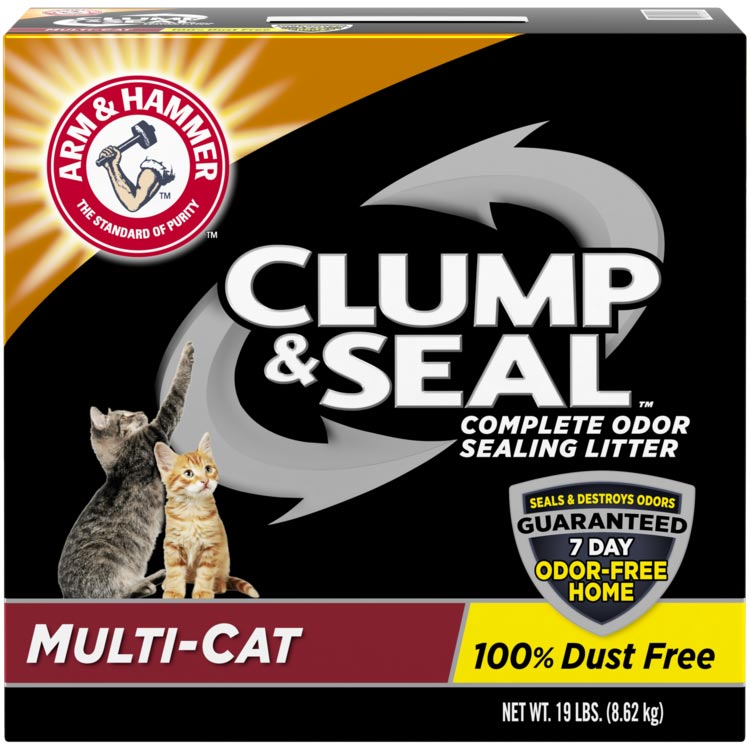 Arm and hammer cat litter clump and seal