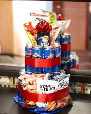 Подарок на день рождения мужчине своими руками из пива