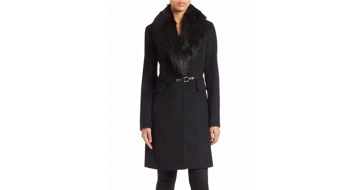 Ivanka trump faux fur coat