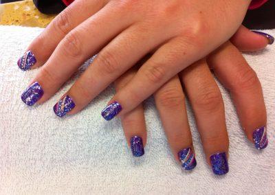 California style acrylic nails