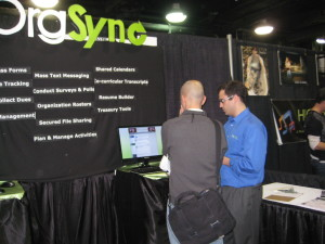 Andrew Showing OrgSync to a NACA Delegate