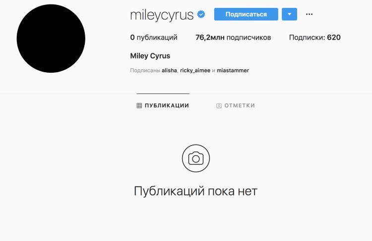 Майли сайрус фото из инстаграм