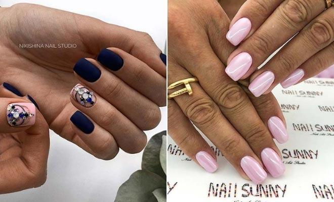 Images of short acrylic nails