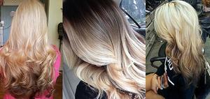 Покраска волос в технике Балаяж
