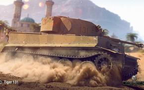 Обои WoT, World of Tanks, Wargaming, Tiger 131