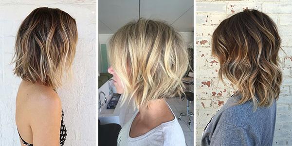 Окрашивание балаяж на средние волосы
