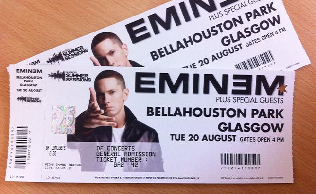 Eminem glasgow ticketmaster