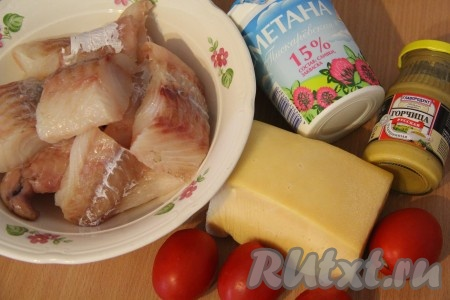 Рецепт треска в духовке с помидорами и сыром