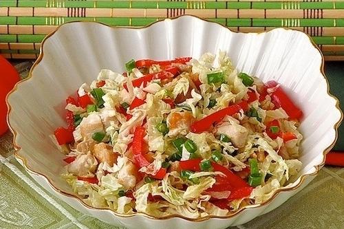 Салат из помидор капусты огурцов