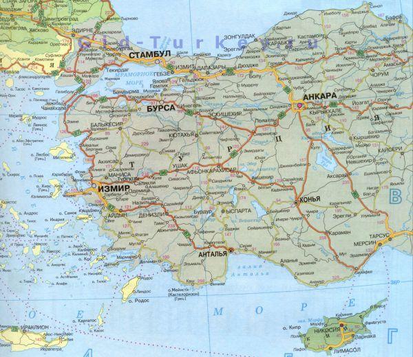 Город в турции на карте