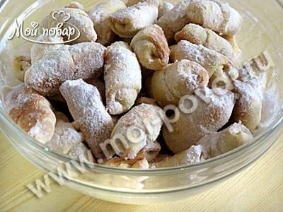 Рогалики с орехами грецкими орехами