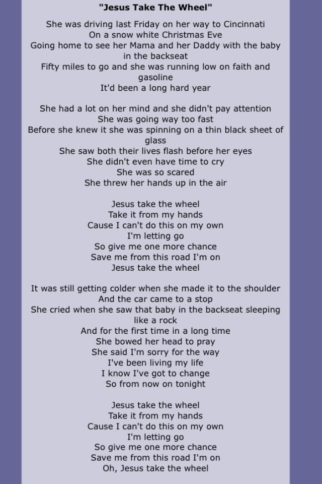 Carrie underwood lyrics and songs