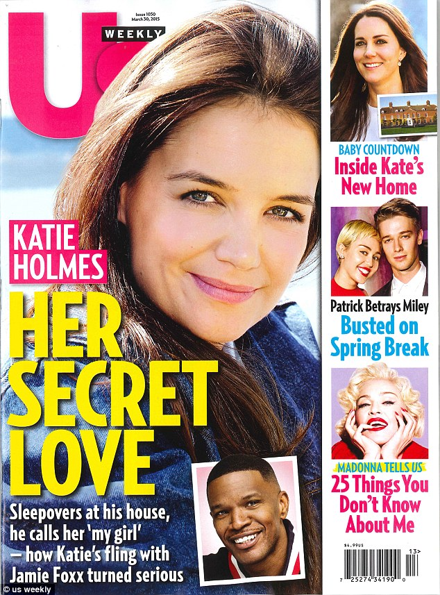 'Going strong': Katie Holmes, 36, is having a romantic relationship with Jamie Foxx and first 'hooked up' with the actor in August 2013 after a benefit in the East Hamptons, reports Us Weekly