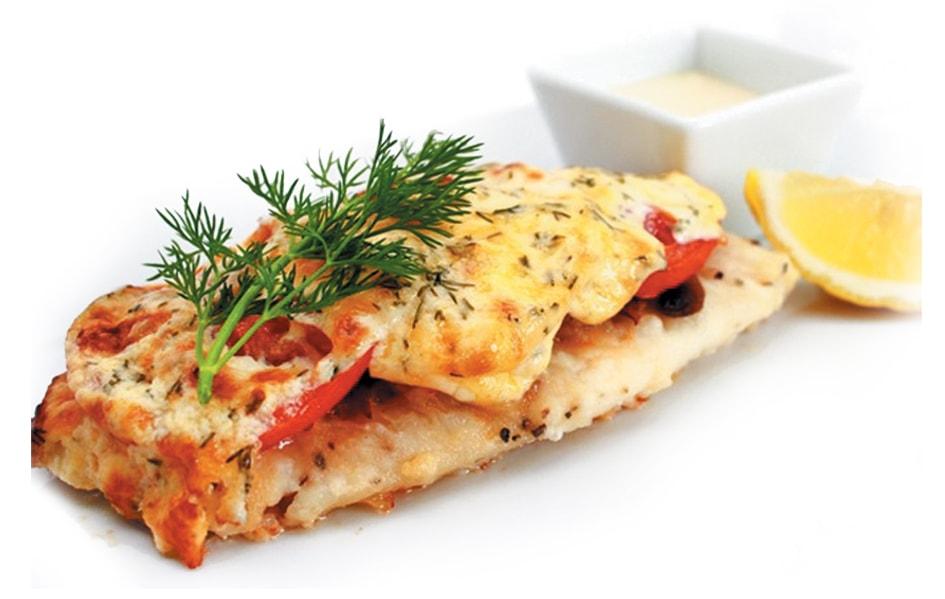 Треска с сыром и помидорами в духовке