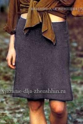 Вязаные теплые юбки спицами со схемами