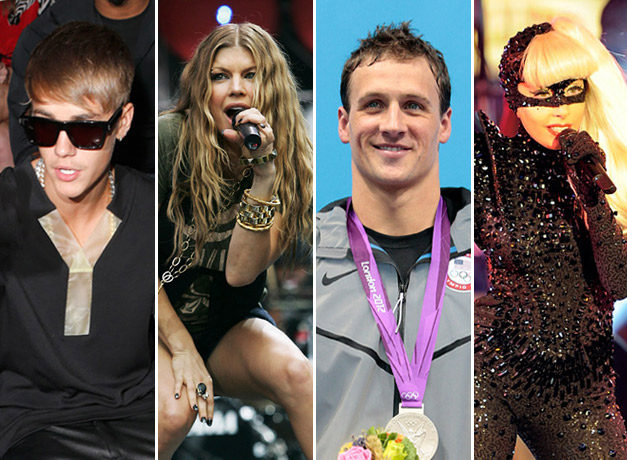 Celebrities pee