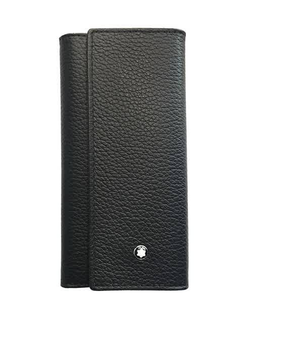 Montblanc Leather Key Case In Black
