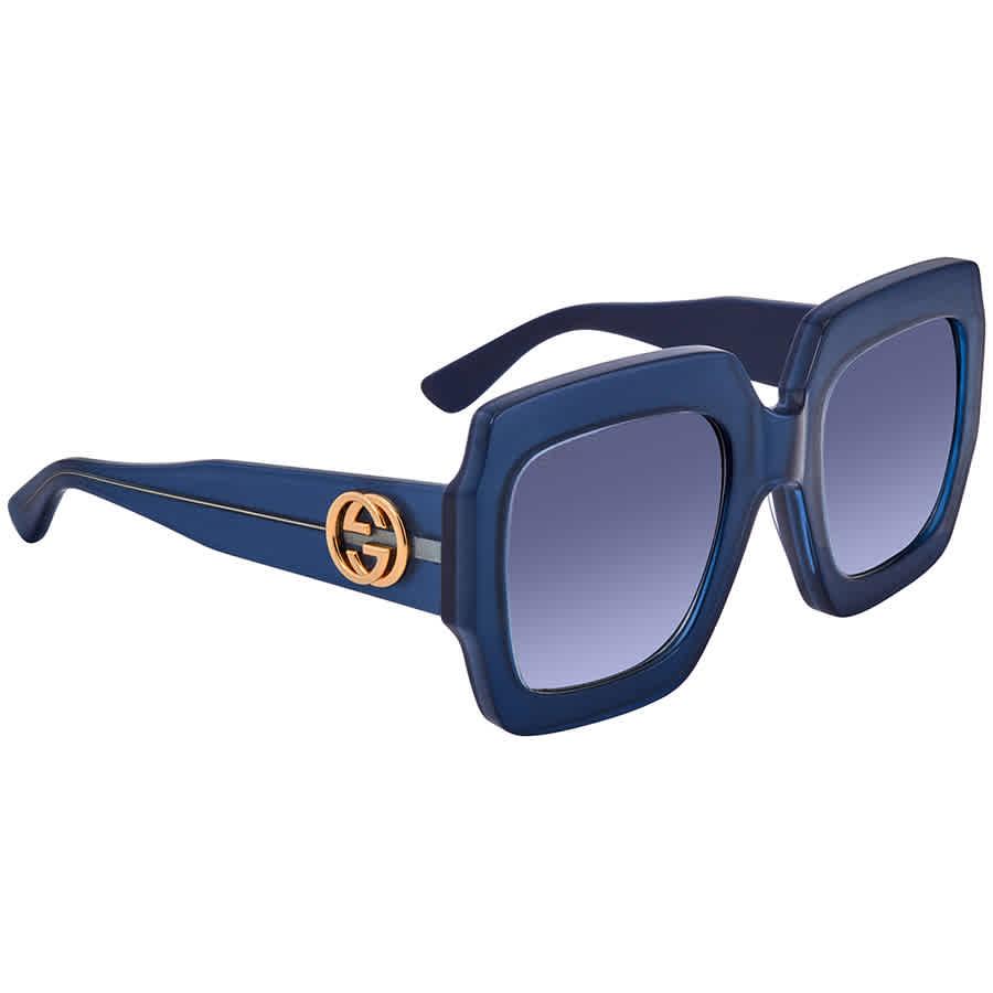 Gucci Blue Gradient Square Ladies Sunglasses Gg0178s00654