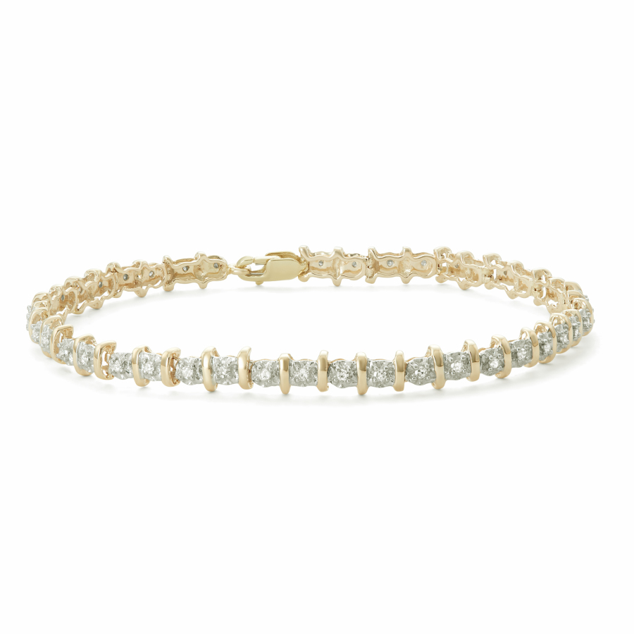 Hetal Diamonds 1/2 Cttw Tennis Bracelet In 10ky In Gold