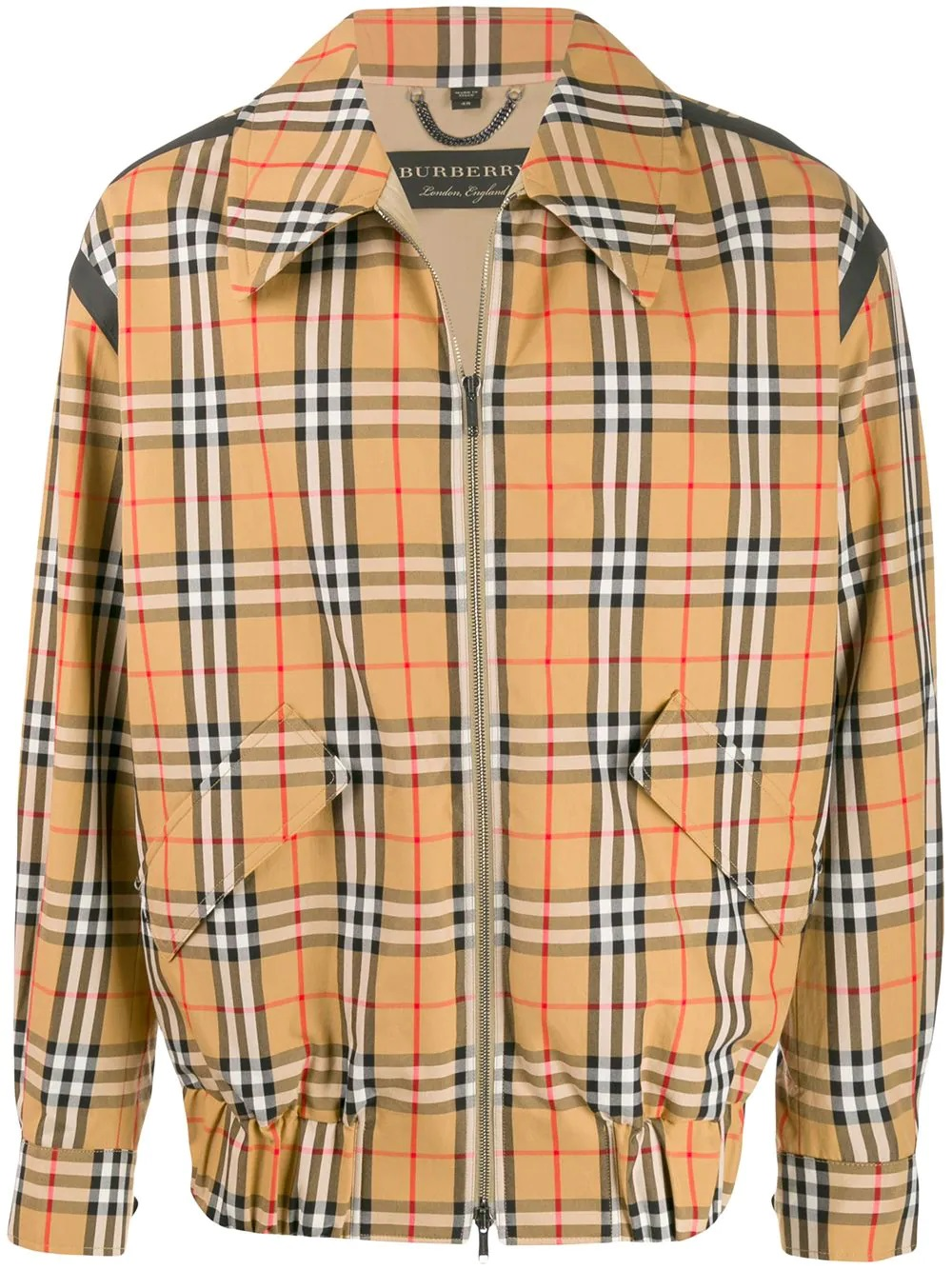 Burberry Mens Checked Zipped Jacket In N,a