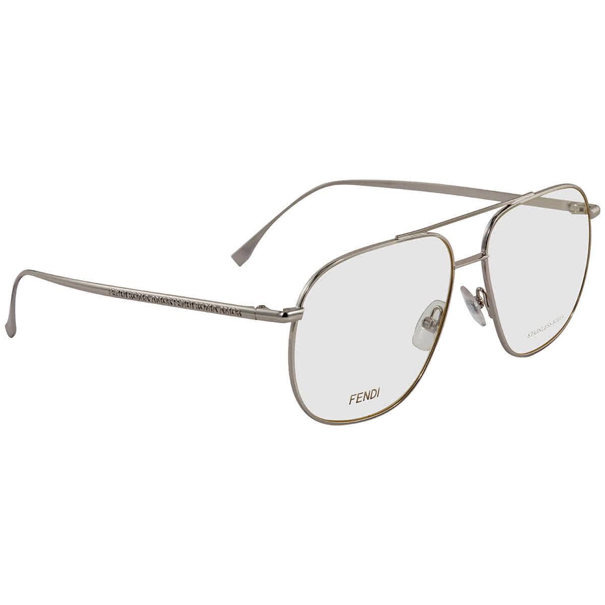 Fendi Aviator Ladies Eyeglasses Ff 0391 0010 57 In Transparent