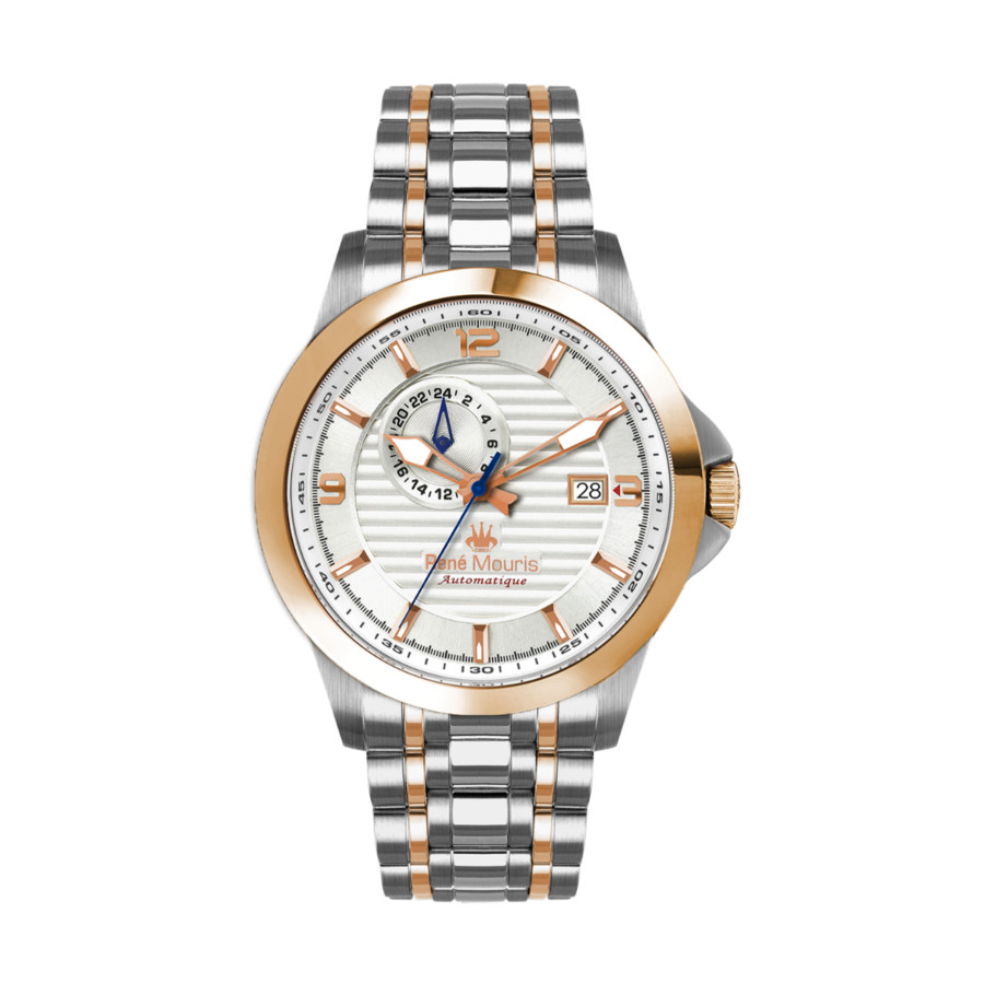Rene Mouris Cygnus Automatic White Dial Mens Watch 70104rm4 In Gold