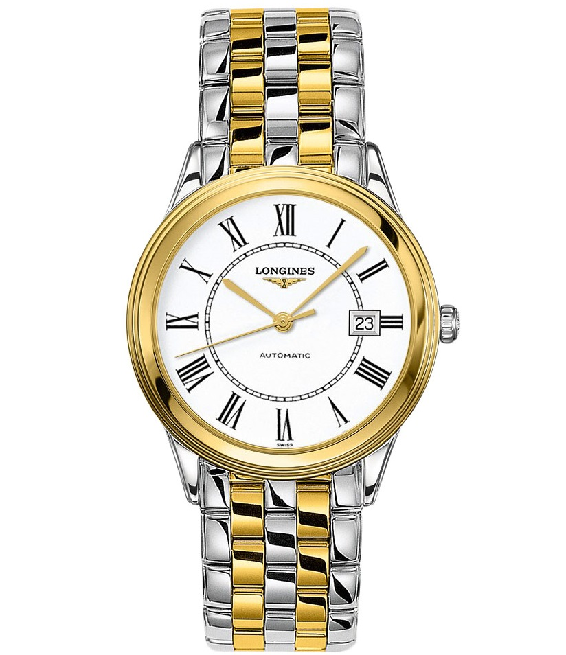 Longines Flagship Automatic White Dial Mens Watch L48743217 In Metallic