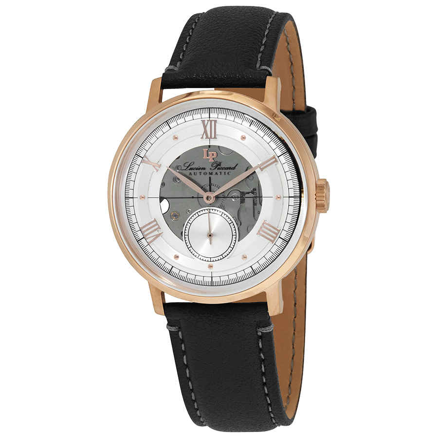Lucien Piccard Automatic Blue Dial Mens Watch 1297a6 In Gold