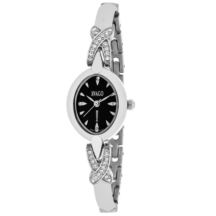 Jivago Via Quartz Black Dial Ladies Watch Jv3610 In Metallic