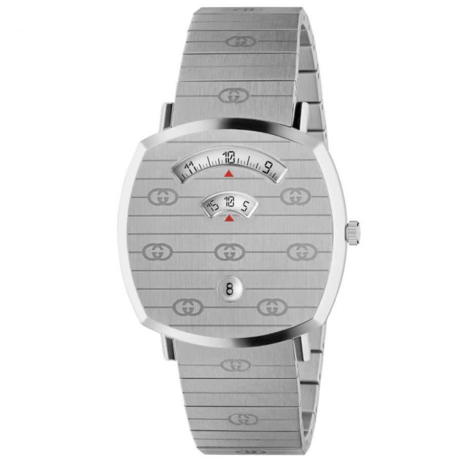 Gucci Grip Quartz White Dial Ladies Watch Ya157410 In Metallic