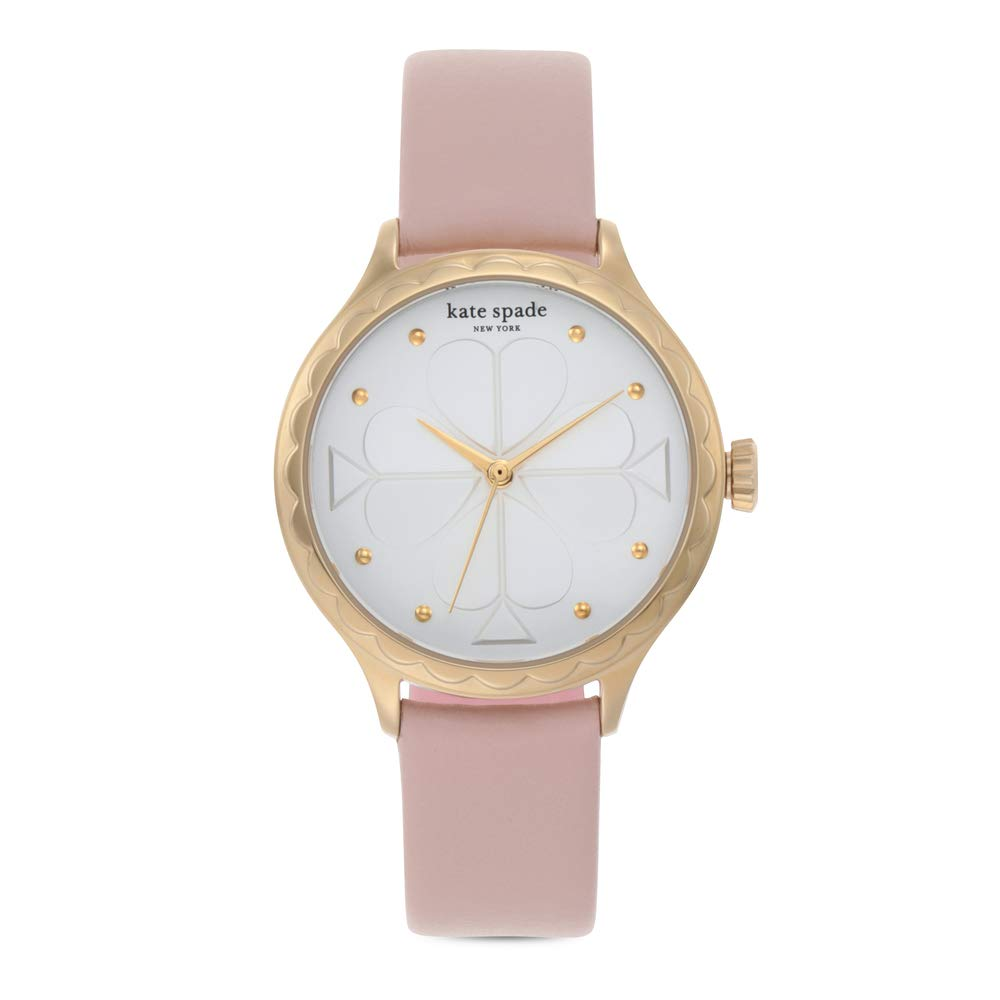 Kate Spade Rosebank Quartz Silver Dial Ladies Watch Ksw1537 In Gold