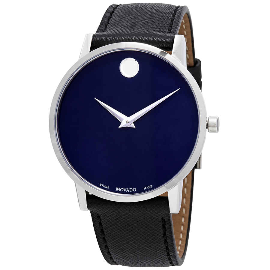 MOVADO MUSEUM CLASSIC BLUE DIAL MENS WATCH 0607197