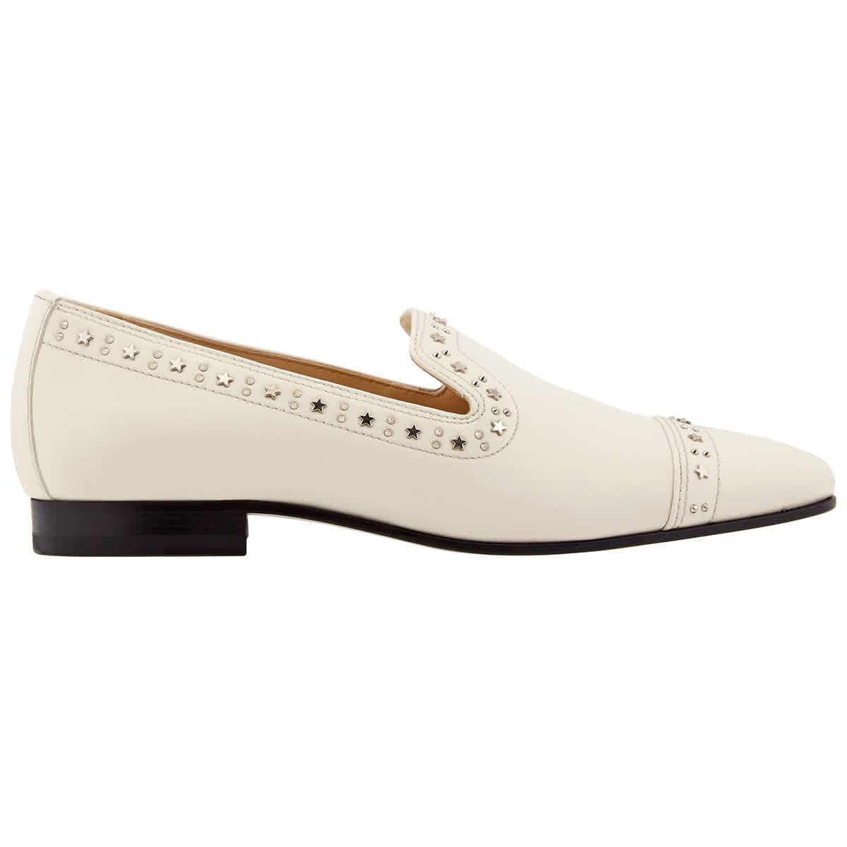 Jimmy Choo Ladies Saunda Star Studded Loafers In N,a