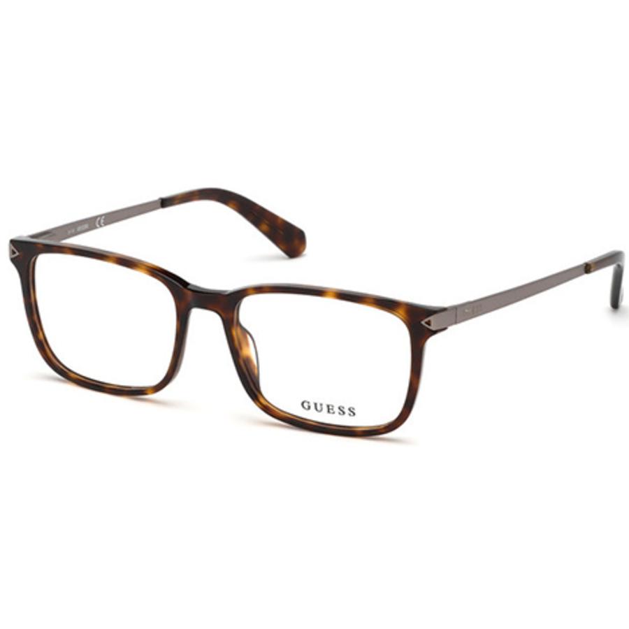 Guess Mens Tortoise Square Eyeglass Frames Gu196305254