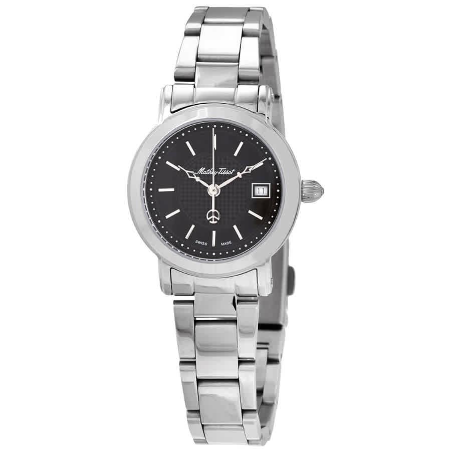 Mathey-tissot City Metal Black Dial Ladies Watch D31186man In Metallic