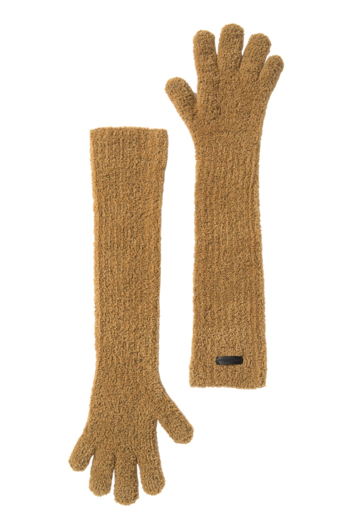 Burberry Ladies Long Length Knit Gloves In Brown