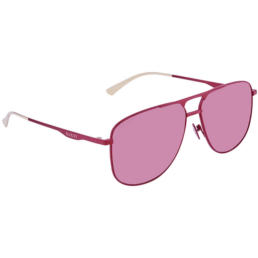 Gucci Aviator Mens Sunglasses Gg0336s 004 60 In Pink