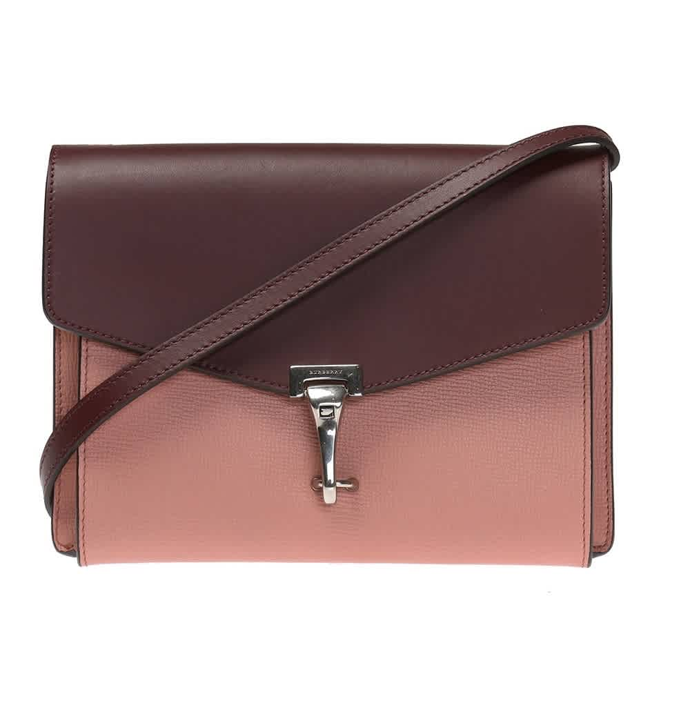 Burberry Dusty Rose / Deep Claret Two-tone Crossbody Bag In Pink,two Tone