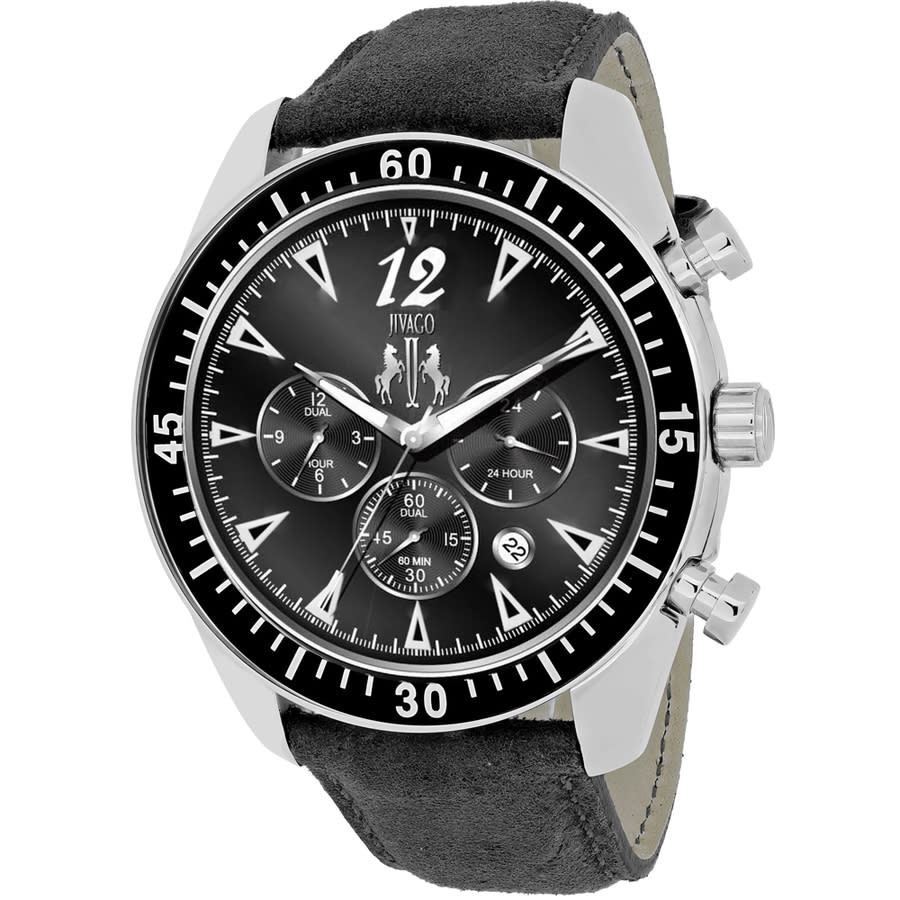 Jivago Timeless Chronograph Black Dial Mens Watch Jv4511