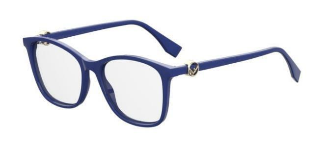 Fendi Demo Square Eyeglasses Ff 0300 0pjp 00 53/17 In Blue